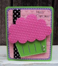 Cute birthday card cricut-crafts--always nice to take home a bunch!