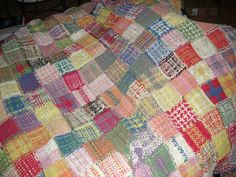 Looper loom quilt - from potholders
