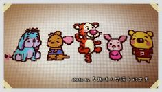 Winnie the Pooh and friends hama perler beads