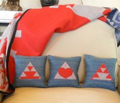 Pendleton Denim Pillows  by UrbanCamp