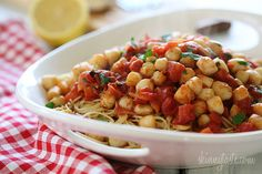 Angel Hair Pasta with Scallops and Tomatoes | Skinnytaste