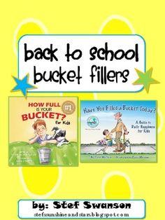 {Bucket Fillers!} FREEBIE! Great books to read to reinforce positive expectations in the classroom!