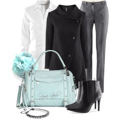 """H At the Office"" by orysa on Polyvore"