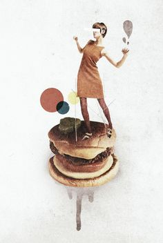 These Burgers Are Crazy Art Print