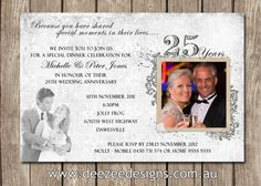 Photo Personalised 25th Wedding Anniversary by deezeedesign, $15.00