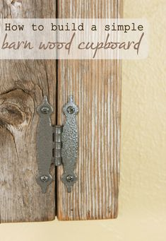 How To Build A Simple Cupboard