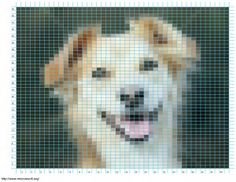 This is BRILLIANT!! Using KnitPro (free app) Upload a picture and it will turn it into a knitting or cross stich pattern for FREE! Takes seconds.