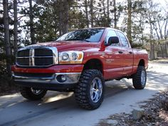 Dodge Ram 1500 w/ Body Lift.... Orange with black.