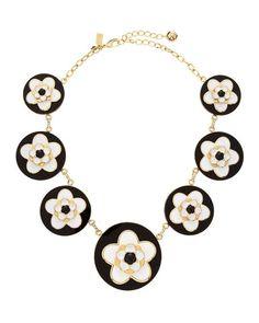 blackwhit lyst, necklac blackwhit, mod floral, gif fashiongif, york