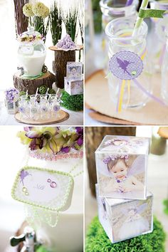 Dreamy Lavender Woodland Fairy Party: Milk drink station