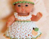 Berenguer itty bitty Lots to Love Reborn doll clothes clothing - 5 inch Berenguer doll clothes outfit - Purple Rose doll dress. $14.99, via Etsy.