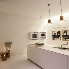 bulthaup b3 + Muffins Pendant by Brokis