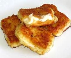 Serbian fried breaded cheese