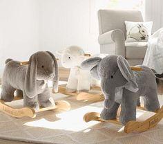 Rocking animals via Pottery Barn Kids