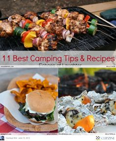 EASY Camping Recipes. . .remembering chicken and shrimp kabobs with good friends. . (  ;