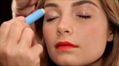 Tangerine lips as the focus of the face