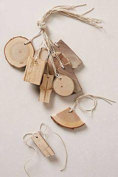 Tree Bark Gift Tags