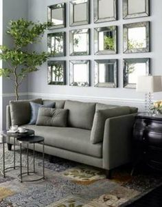 interior design, grey interiors, mirror mirror, living rooms, framed mirrors, wall mirrors, sitting rooms, live room, mirrored walls