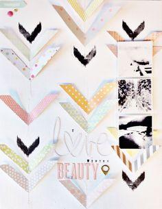 #papercraft #Scrapbook #layout.  I Love Winter Beauty by TaraElias at @Studio_Calico