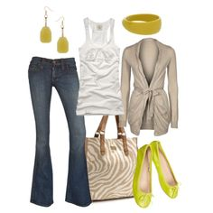 acid green, created by #htotheb on #polyvore. #fashion #style Abercrombie & Fitch #Wallis