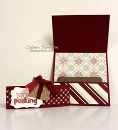 Gift Card holder with tutorial