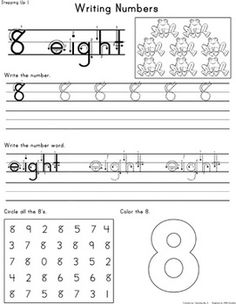 Here's a set of pages from 0-20 to help students practice writing numbers.