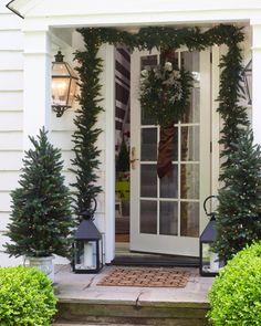Christmas porch Via elledecor.com