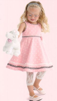 Le top Romance Toddler Dress and Tights - 2T at Adorable Baby Clothing