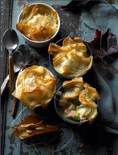 Phyllo Chicken Pot Pies