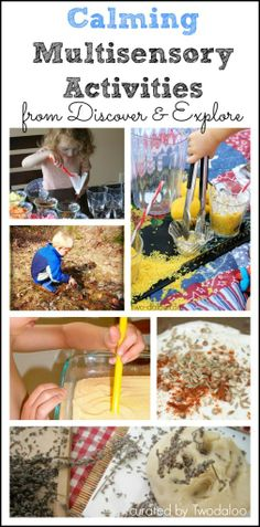 Calming Multisensory Activities  - Pinned by @PediaStaff – Please Visit  ht.ly/63sNt for all our pediatric therapy pins