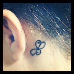 My tattoo!  #behindear #celtic #friendship