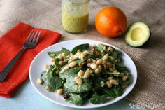 Gluten-free Friday: Spinach and white bean salad with creamy avocado dressing