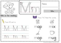 Introducing the Alphabet worksheets. Love that it displays correct letter formation; kids can finger trace the letter before writing it. Also like the CVC words so that children can attempt blending sounds into words. Great supplement to Letter of the Week!!