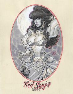 Red Sonja 1887 by ~MichaelDooney on deviantART