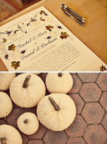 BridalHood: Real Wedding: Dan and Rachel's Vintage Fall Wedding