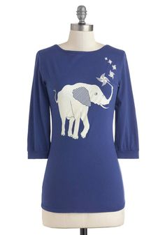 Ahead of the Pachyderm Top, #ModCloth