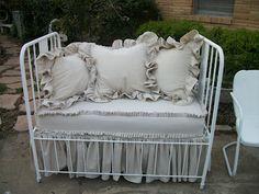 crib turned settee