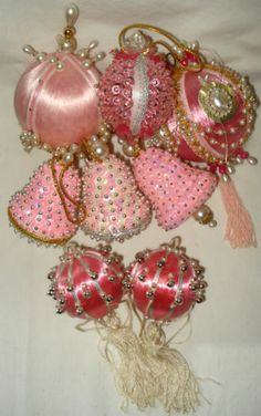 xmas trees, satin ball, bead sequin, sequin satin, christma ornament, tree ornament