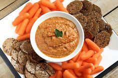Eggplant and Roasted Red Pepper Dip (gluten-free and vegan) by tastyyummies