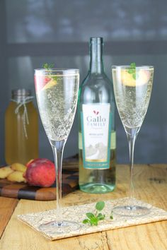 Peach Moscato Sangria Recipe from Miss in the Kitchen
