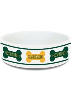 Cute #Baylor pet bowl from the Baylor Bookstore