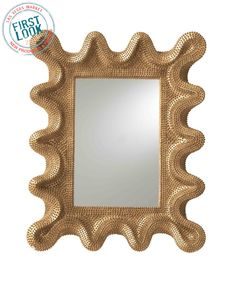 SUMMER 2012: #Mirror, mirror at #lvmkt = @LauraKirar Collection from @ArteriorsHome beguiles in a golden finish. Amazing texture, too!
