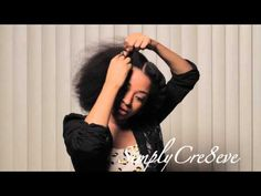 [Video] Unicorn Twists Hairstyle - YouTube's Simplycre8eve #NaturalHairRocks #OfficiallyNatural #Twists