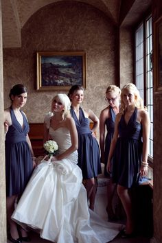 Bridesmaids dresses from Nordstrom's, Flowers by bluehydrangea.ca, Wedding Gown by Maggie Sottero