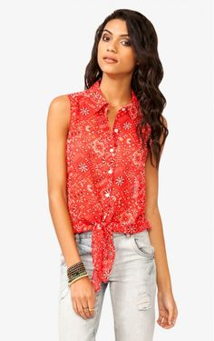 Multi Colours Chiffon Sleeveless Blouse