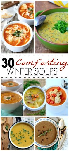 30 Comforting Winter Soup Recipes! | www.joyfulhealthyeats.com #souprecipes #fallfood