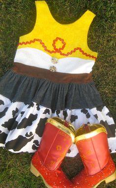 Cowgirl Jessie Dress Costume Toy Story Girls. $59.00, via Etsy.