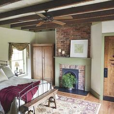 kitchen hous, old farmhouses, little houses, bedroom, fireplac mantel