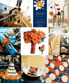 Blue/Orange Wedding Look