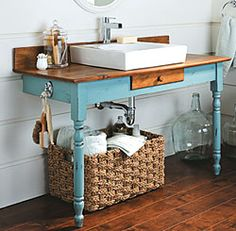 Recycled Bathroom Vanity Project
